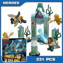 221pcs Super Heroes Liga Da Justiça Batalha de Atlantis Base de Aquaman 10841 Modelo de Blocos de Construção Tijolos Brinquedos Compatíveis com Lego
