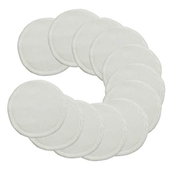 iCosow Makeup Remover Pads Washable Bamboo Fiber Soft Reusable Nursing Facial Skin Care Pads Cloth for Women Girls  (16Pcs)