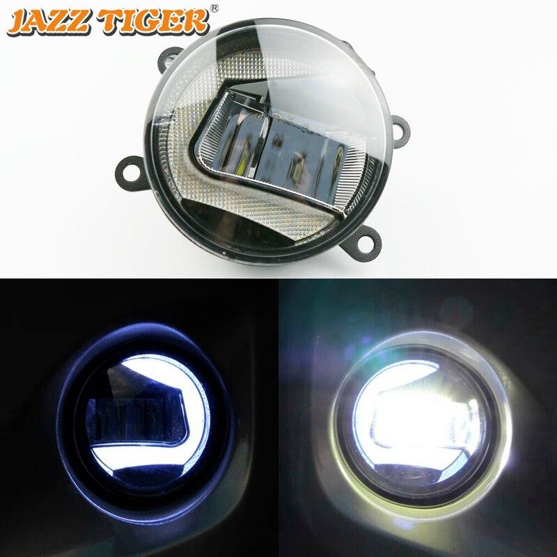 JAZZ Tigre 2-en-1 Funciones LED luz del coche llevó la lámpara de niebla Luz de proyector para Honda ajuste de Jazz 2014, 2015, 2016, 2017