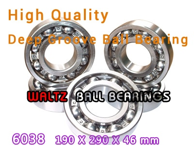 190mm Aperture High Quality Deep Groove Ball Bearing 6038 190x290x46 OPEN Ball Bearing