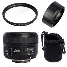 Yongnuo YN35mm F2N lens groothoek Groot Diafragma Vaste Auto Focus Lens + 58mm UV filter + lens tas + Zonnekap Voor Nikon D7100 D3200