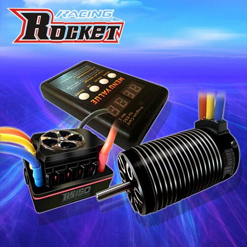 4076 2250KV 2000KV Motor sin escobillas sin sensor + 150A ESC sin escobillas con interruptor de 8,4 V modo BEC + tarjeta de programación LCD para coche 1/8 RC