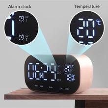 Alarme Radio FM   1 PC, Bluetooth, Support de haut-parleur, température, affichage LCD, alarme Radio, sans fil stéréo, Subwoofer, lecteur de musique
