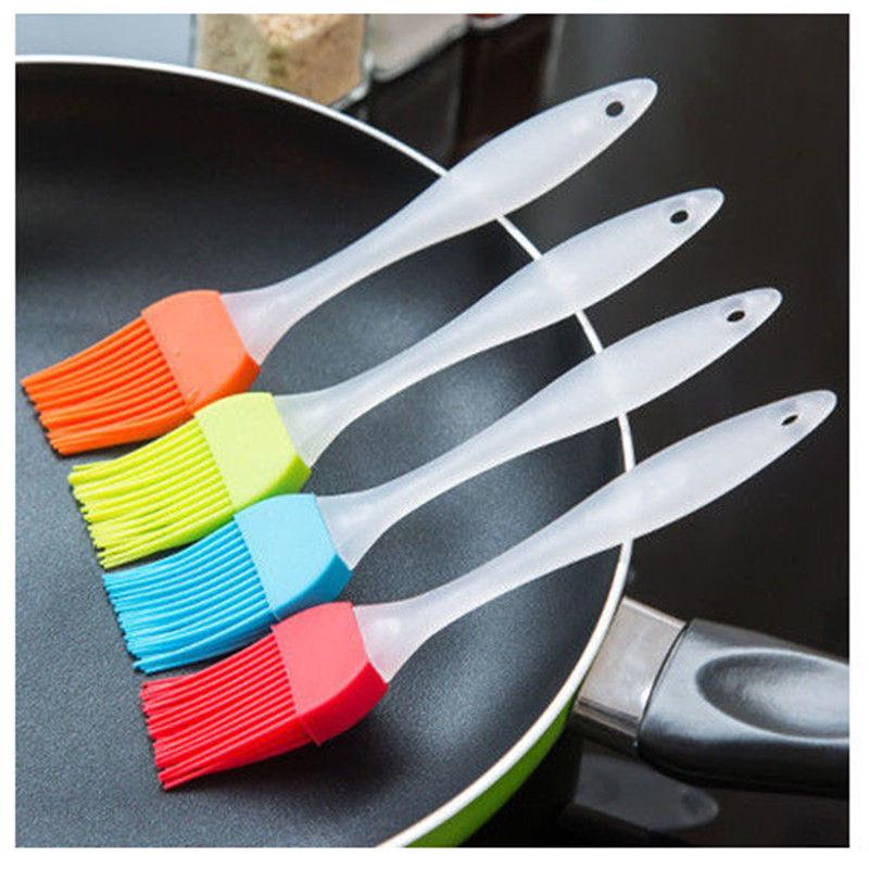 Para hornear de silicona para hornear pan cocinar cepillos de pastelería de BBQ cepillo de hilvanado herramienta Color aleatorio