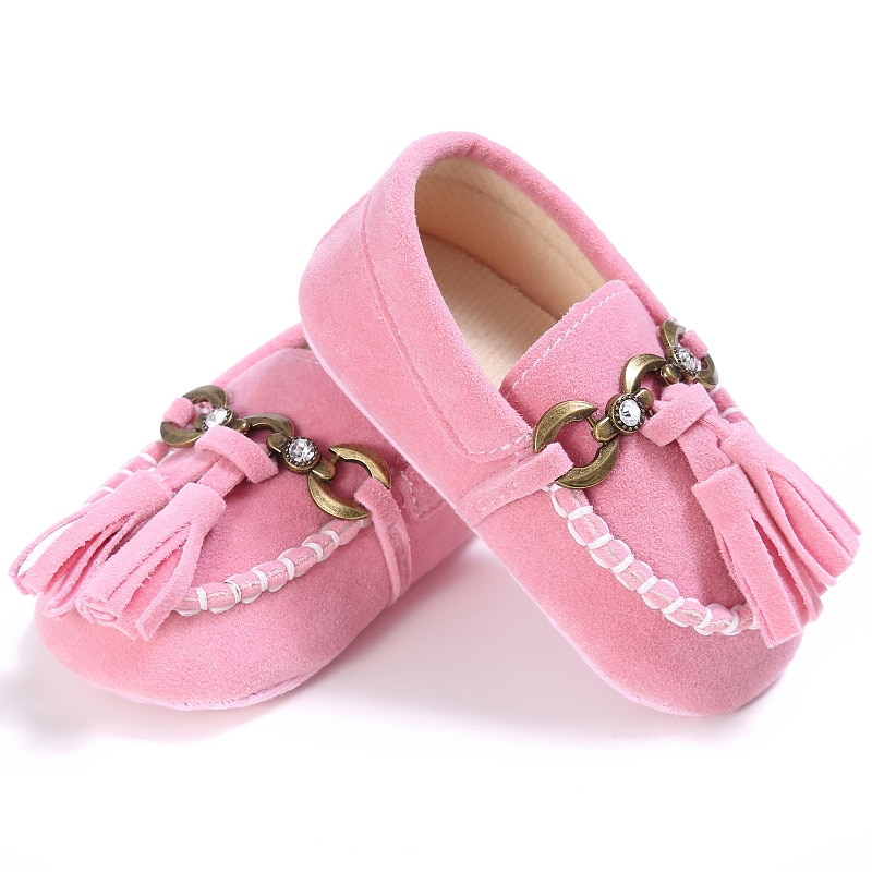 E & Bainel/Мокасины с бахромой для малышей, тапочки с кисточками для новорожденных, детская обувь из искусственной кожи