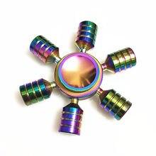 099 Six bras haute qualité Fidget Spinner métal arc-en-ciel Dragon main fileurs autisme tdah Focus soulagement de lanxiété Stress