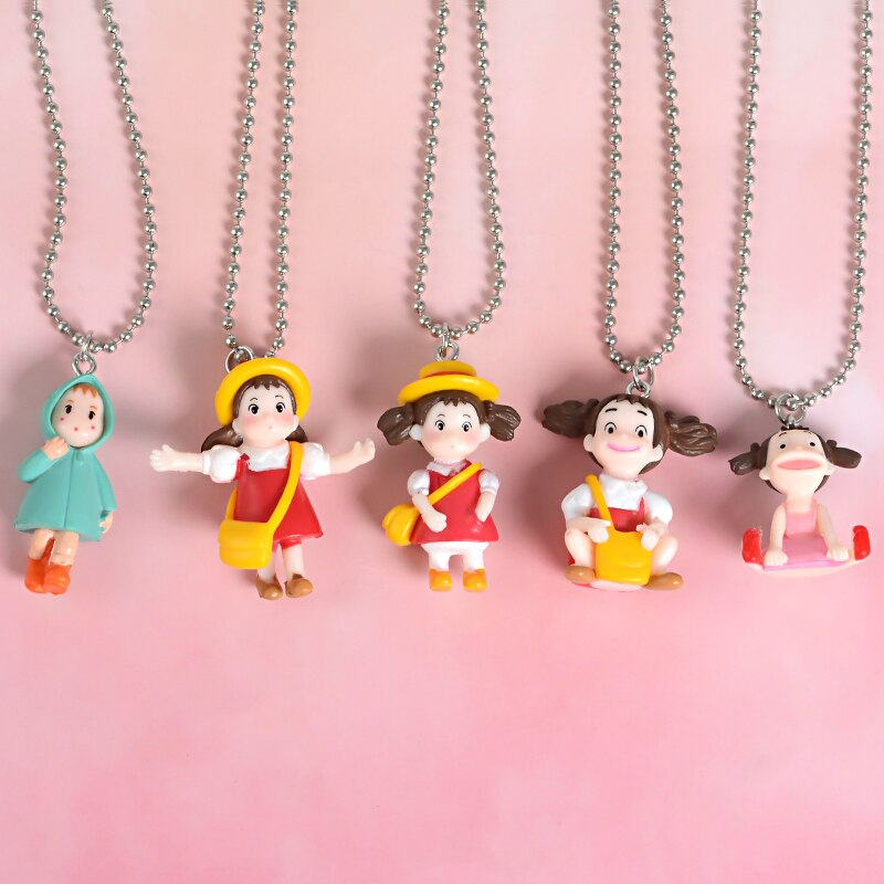 Japanese Anime Miyazaki Hayao Kawaii Cartoon My Neighbor Totoro Pendant Necklace Gift for Friends