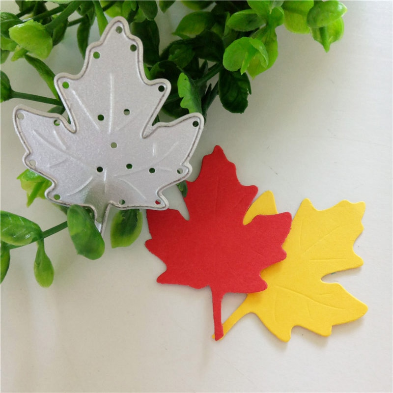 tree natural Maple leaf Metal Cutting Dies Stamp Scrapbooking Decoretive Embossing Stencial paper craft home decoration