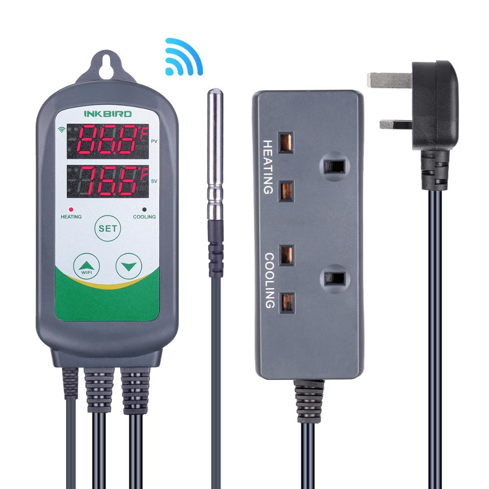 Inkbird ITC-308, enchufe británico, Control WIFI, termostato, controlador de temperatura para la caldera termorregulador casera para habitación cálida
