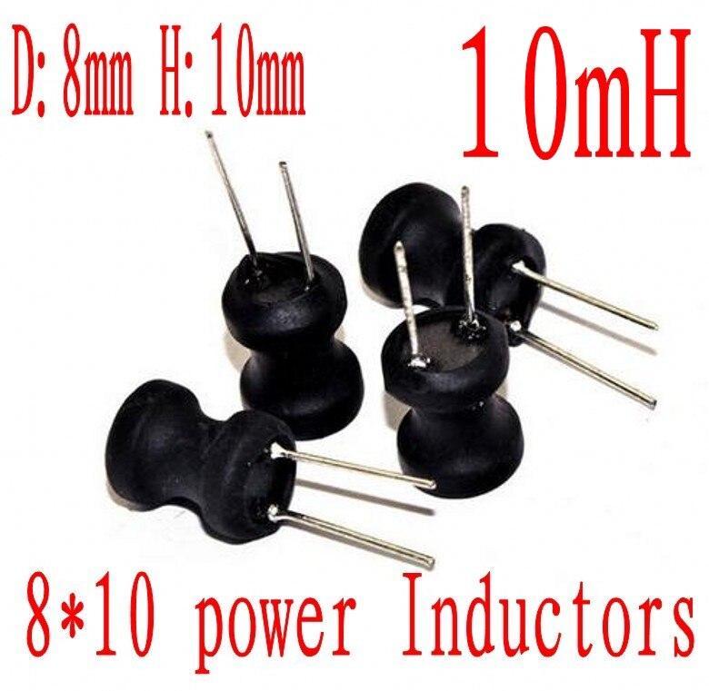 DIP Indutor Poder 8*10mm Indutor 10mh 103 Radial Chumbo 8mm * mm 10MH 500 pçs/lote 10
