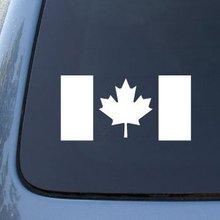 CANADA FLAG CANADIAN - Truck, Notebook, Vinyl Die Cut Decal Sticker Vinyl Color White 6