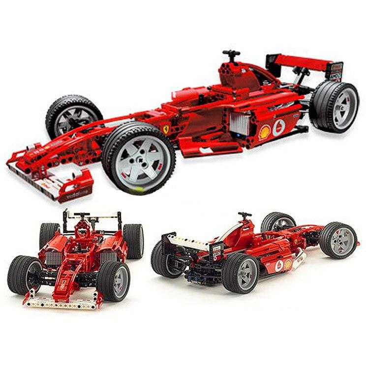 Juego de Bloques de construcción de ciudad Technic Racers F1 Racer Car ladrillos modelo clásico juguetes para niños regalo