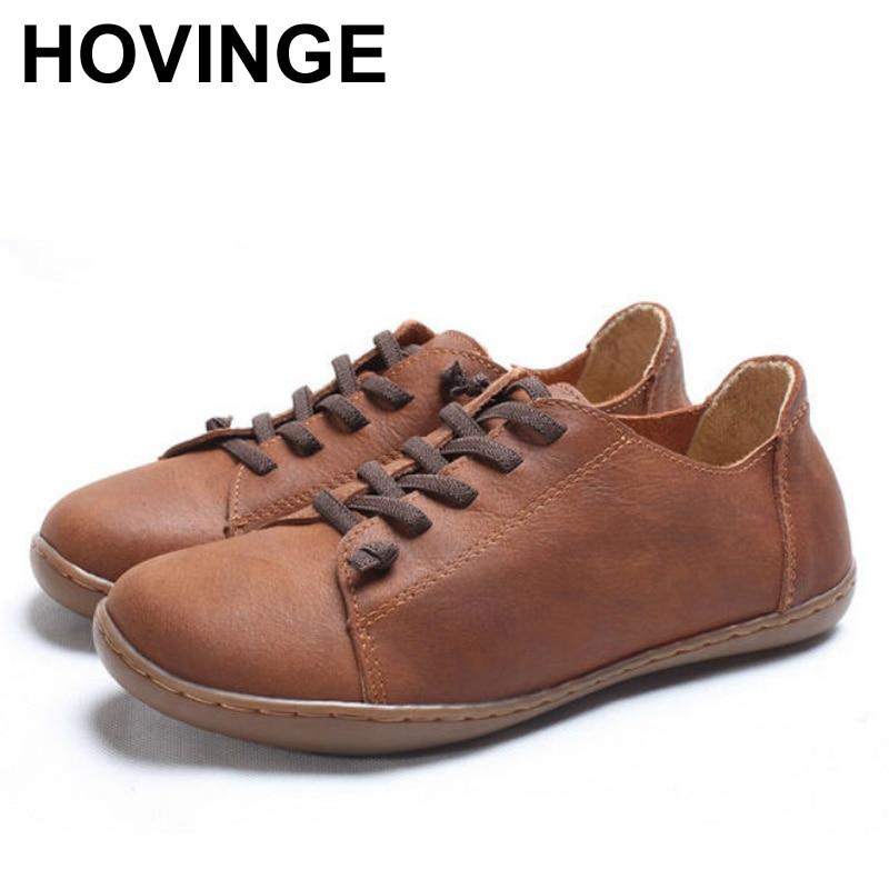 حذاء نسائي من بلونجي حذاء نسائي مسطح من الجلد الأصلي ذو مقدمة ورباط حذاء نسائي مسطح حذاء نسائي بدون كعب