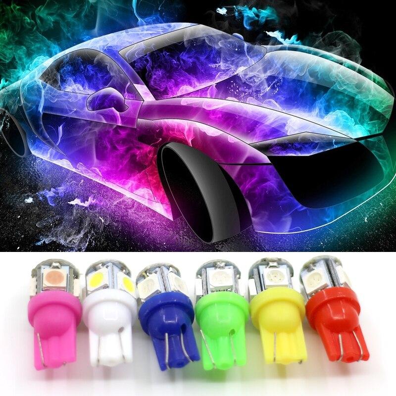 Coche LED SMD 5050 apto para lada niva kalina priora granta largus vaz samara 2110 del coche de la cuña lateral bombilla de luz trasera