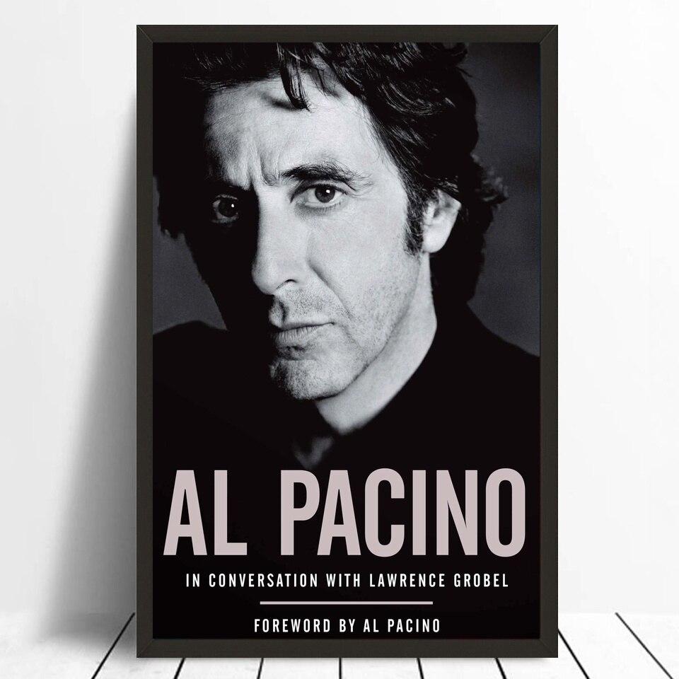 Al pacino ator filme estrela preto e branco imagem de seda tecido impressão barra cartaz decoração da parede