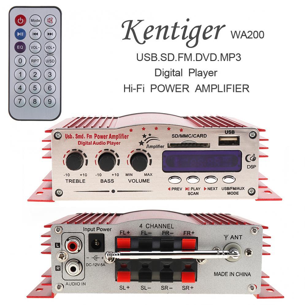 Pantalla LED Digital Hi-Fi de 12V, 2 canales, amplificador estéreo para coche,...