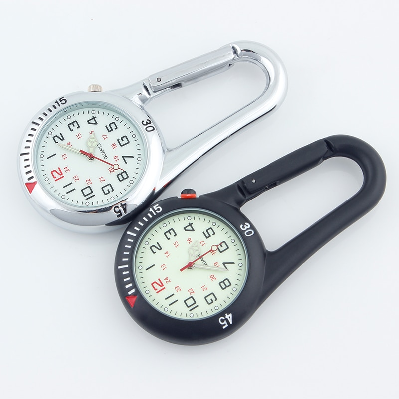 ALK Fob Clip Carabiner Pocket Watch Fob Medical Sports Watches Vintage Nurse Clock Mountaineering Sports Equipment Dropshipping фото