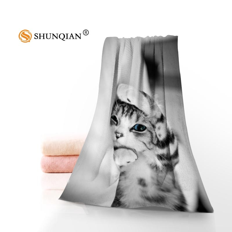 Cute Cats Towels Microfiber Bath Towels Travel,Beach,Face Towel Custom Creative Towel Size 35X75cm And 70X140cm A7.24