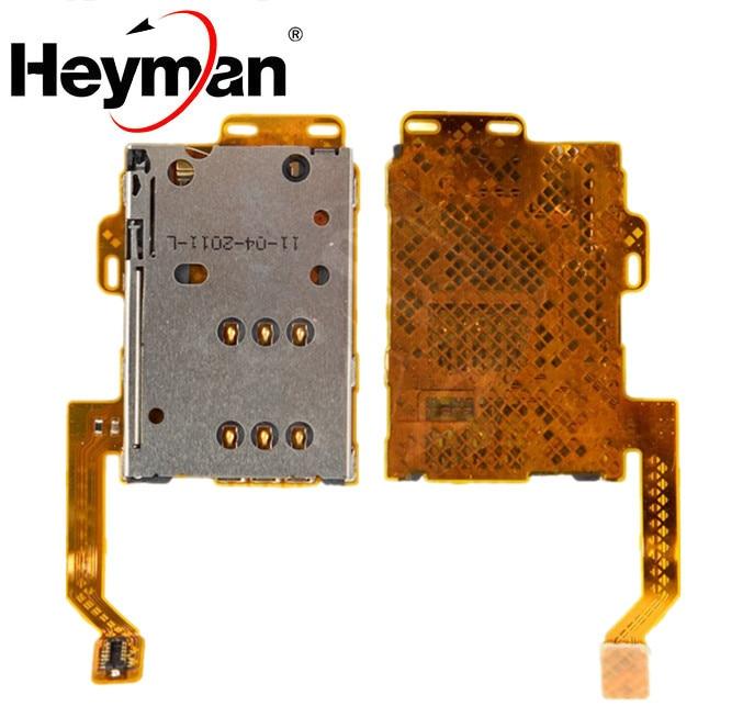 Cable flexible Heyman para Nokia 701, C7-00 (con cable plano) Conector de tarjeta SIM pieza de reemplazo de Cable plano