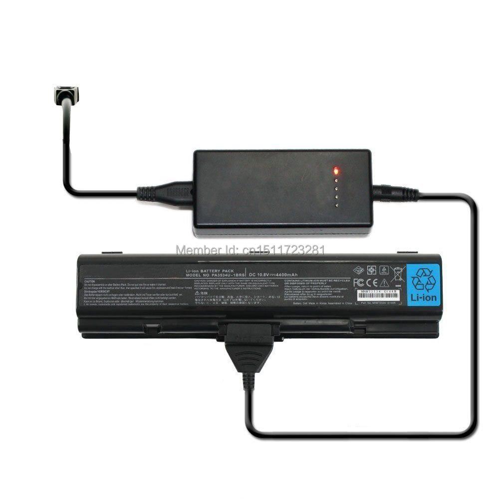 Cargador externo de la batería del ordenador portátil para Toshiba Satellite L45 L40 L45 serie