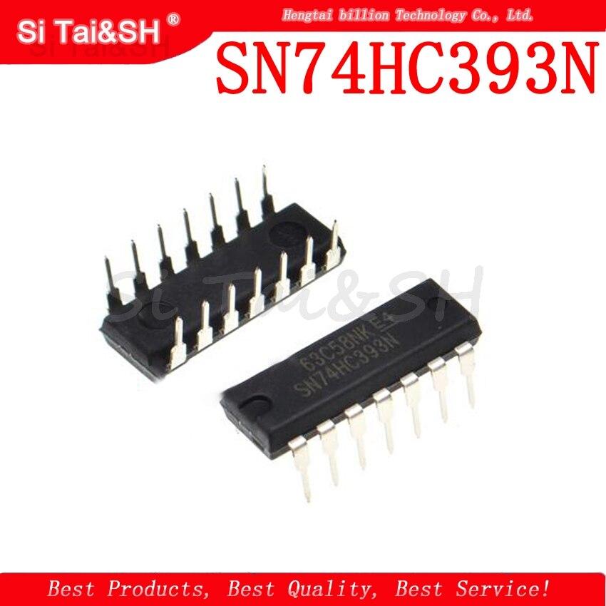 10 Uds SN74HC393N DIP14 SN74HC393 DIP 74HC393N 74HC393 DIP-14 nueva y original IC