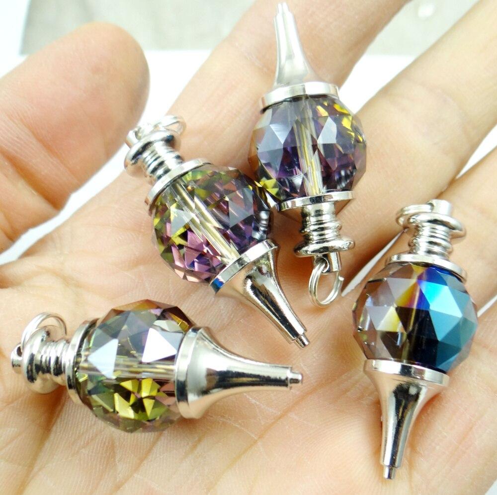 10 pcs pedra Natural Artesanal Amuleto Cura Dowsing do Pêndulo de Cristal misturado Onyx Gem Stone Pingente Colares Jóias fazendo grátis