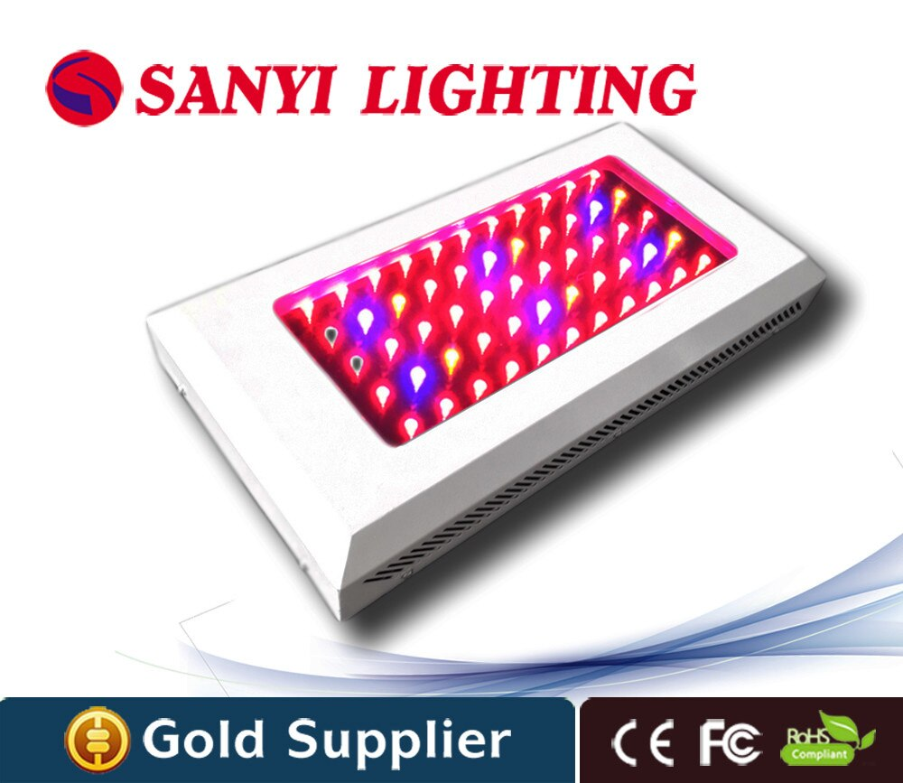 Lampe de culture LED 55x3W éclairage horticole pour plantes médicinales croissance et floraison rouge et bleu 81 lampe déclairage couleur émettrice