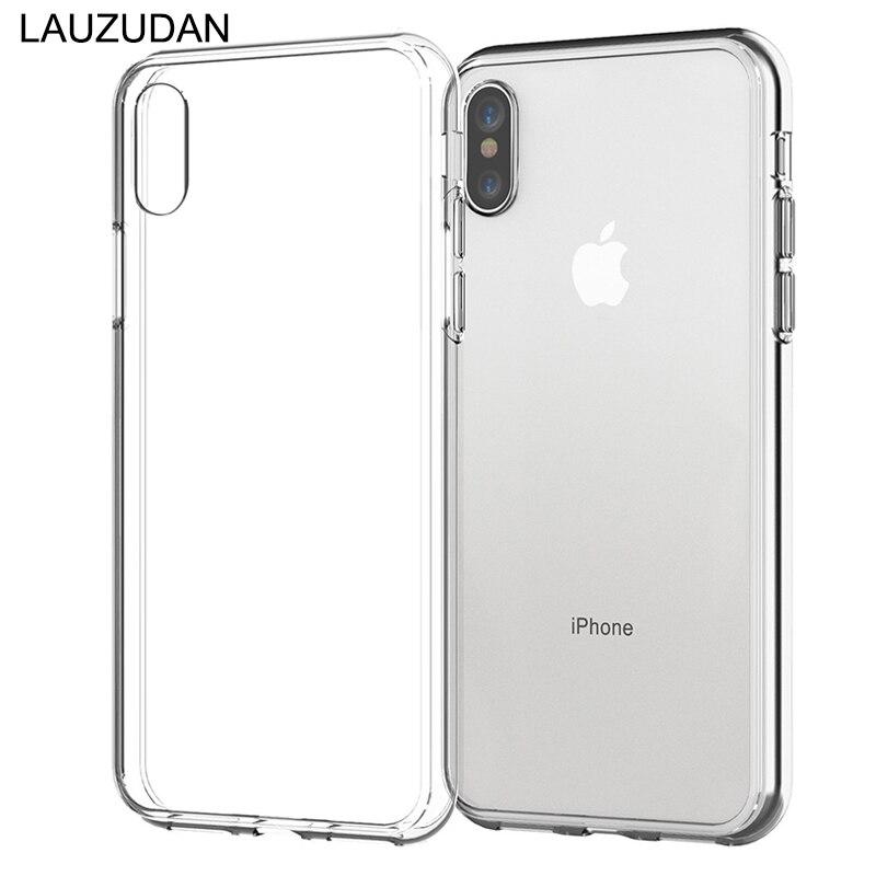 100 pçs caso do telefone para o iphone xr caso iphone 7 silicone macio transparente capa traseira para o iphone xs max x 8 7 6s plus 5S