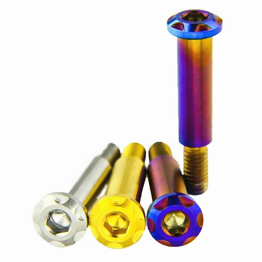 2/8 Uds tornillo de titanio TC4 varilla de tracción tornillo de ajuste para BREMBO Ti pernos quemados azul/oro para MotorcycleT Ti tornillo Ti sujetadores