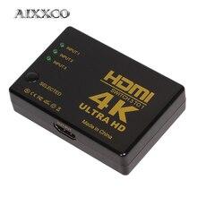 AIXXCO 4K * 2K 1080P HDMI Video de la señal de Audio Splitter 3 entrada 1 interruptor de salida conmutador para DVD/PS4/HDTV