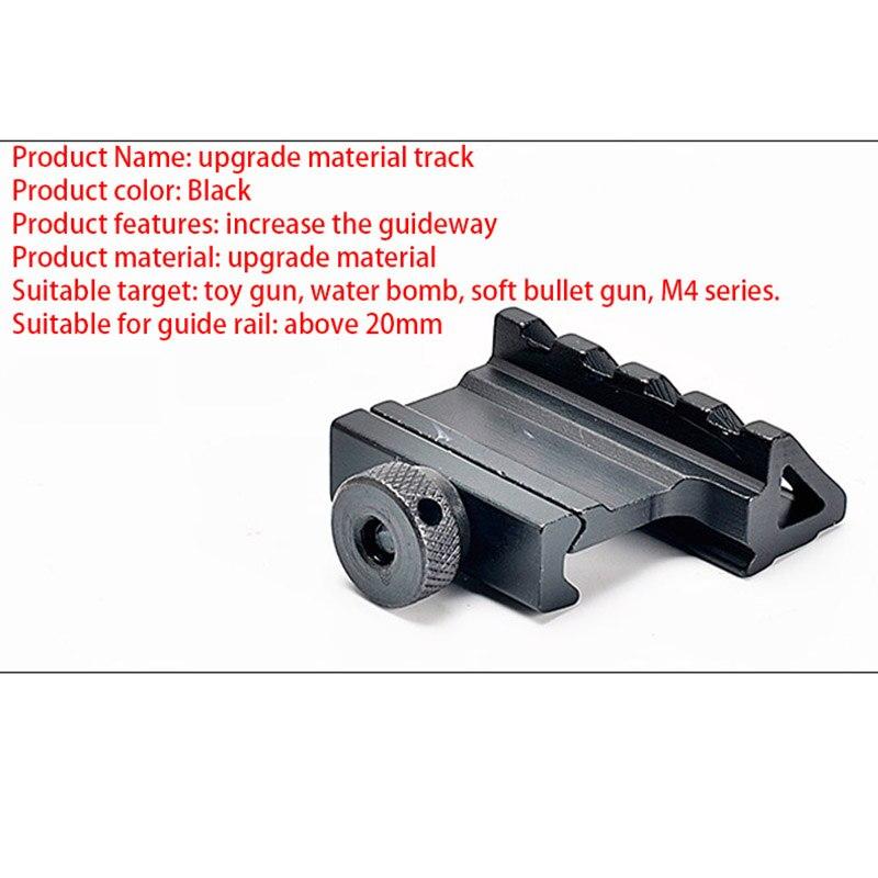 Guia lateral de água projétil gel bola gun jinming8 m4 reequipamento acessórios táticas cicatriz 45 graus único lado slideway guia oblíquo
