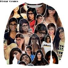 PLstar Cosmos New Fashion Women/Men 3d Funny Clothes AV Star Mia Khalifa Printing Spring Autumn Sweatshirt Hoodies Unisex