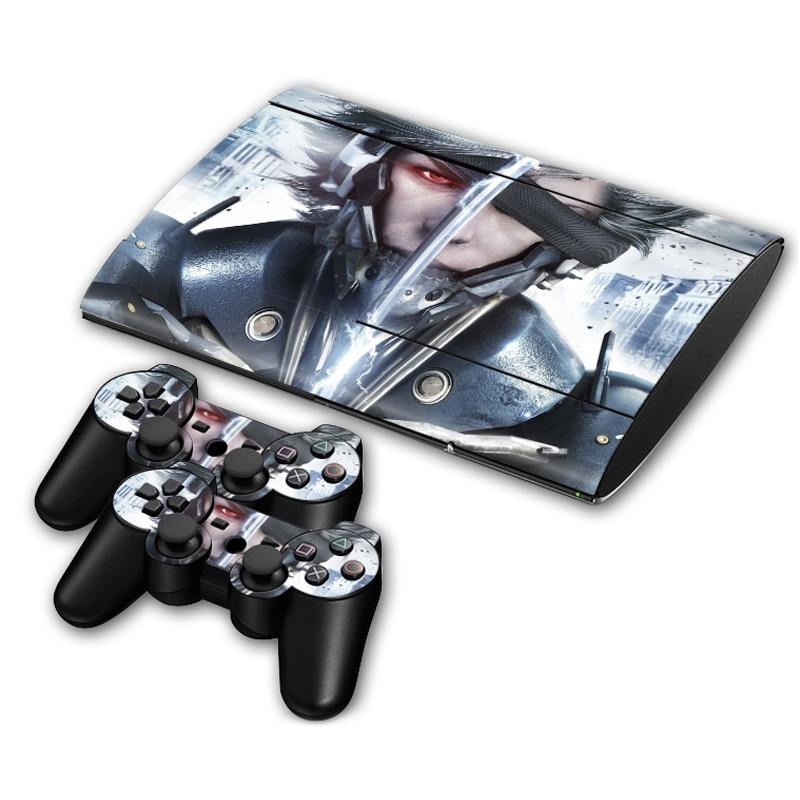 Pegatina de piel para PS3 Slim 4000 PlayStation 3 consola y controladores para PS3 Slim Skins Sticker Vinyl-Metal Gear Solid