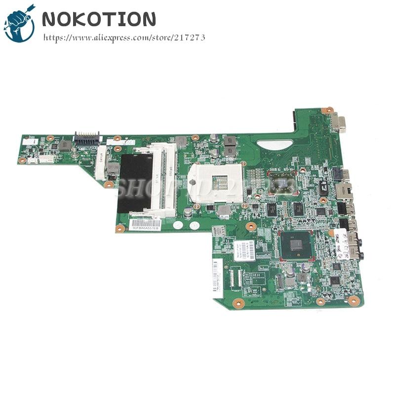 Placa base para ordenador portátil NOKOTION 615381-001 615382-001 para HP G62 G62-B41E0 Tablero Principal HM55 DDR3 con tarjeta de vídeo de 1GB