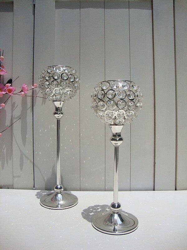 H30CM/35CM, Glass Crystal Candle Holder wedding candelabra glass candle jars  crystal candelabra Home DecorZT004