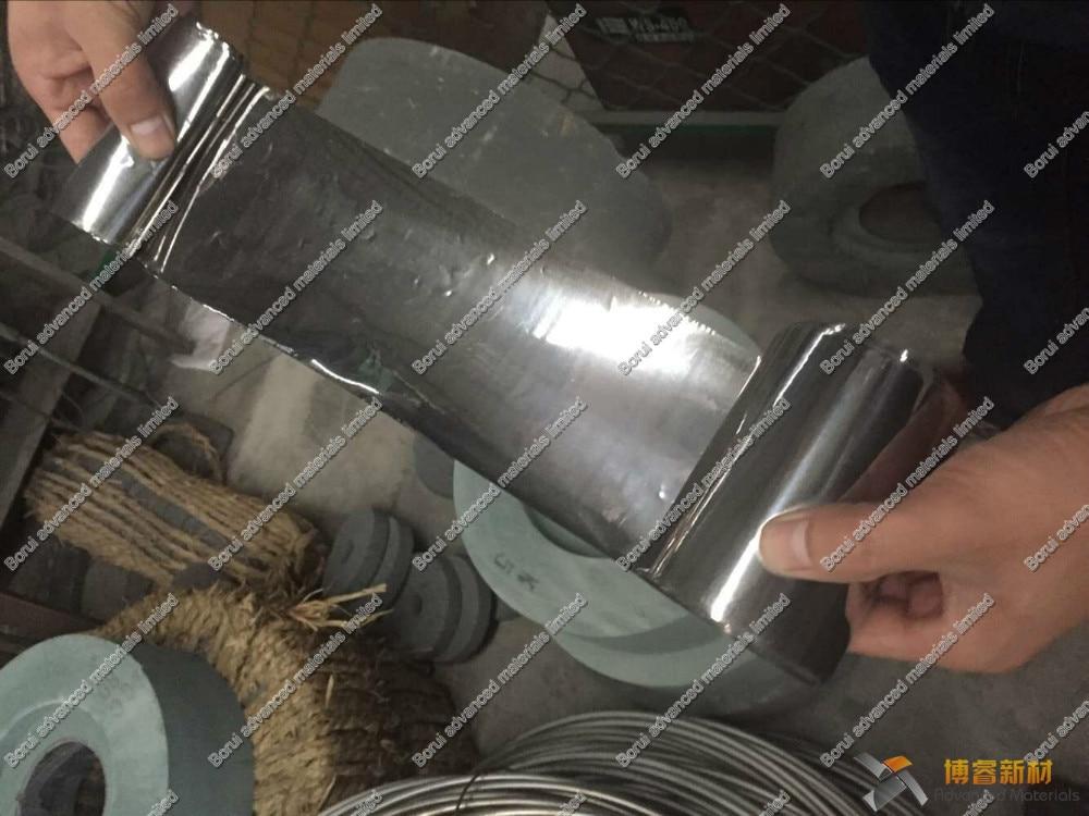 Lámina de titanio 99.6% de 0,05mm x 100mm x 100mm GR2 por Borui de materiales avanzados limitada