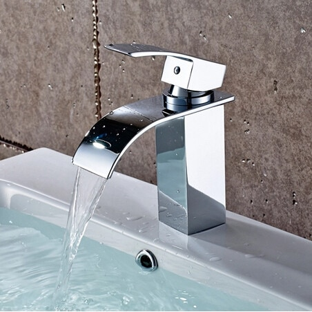Free shipping Bathroom sink faucet waterfall basin faucet bathroom waterfall faucet basin mixer torneira banheiro