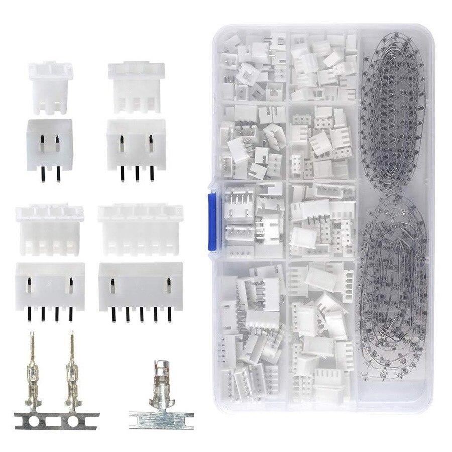 Gran oferta 560 piezas 2,54mm JST-XHP/2/3/4/5 Pin vivienda con 2,54mm JST XH macho/hembra Pin Header Dupont conector de cable Kit