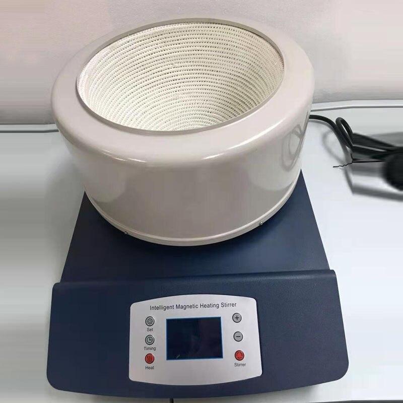 HWET 2000ml 220V temporizador inteligente pantalla digital agitador magnético manto de calefacción