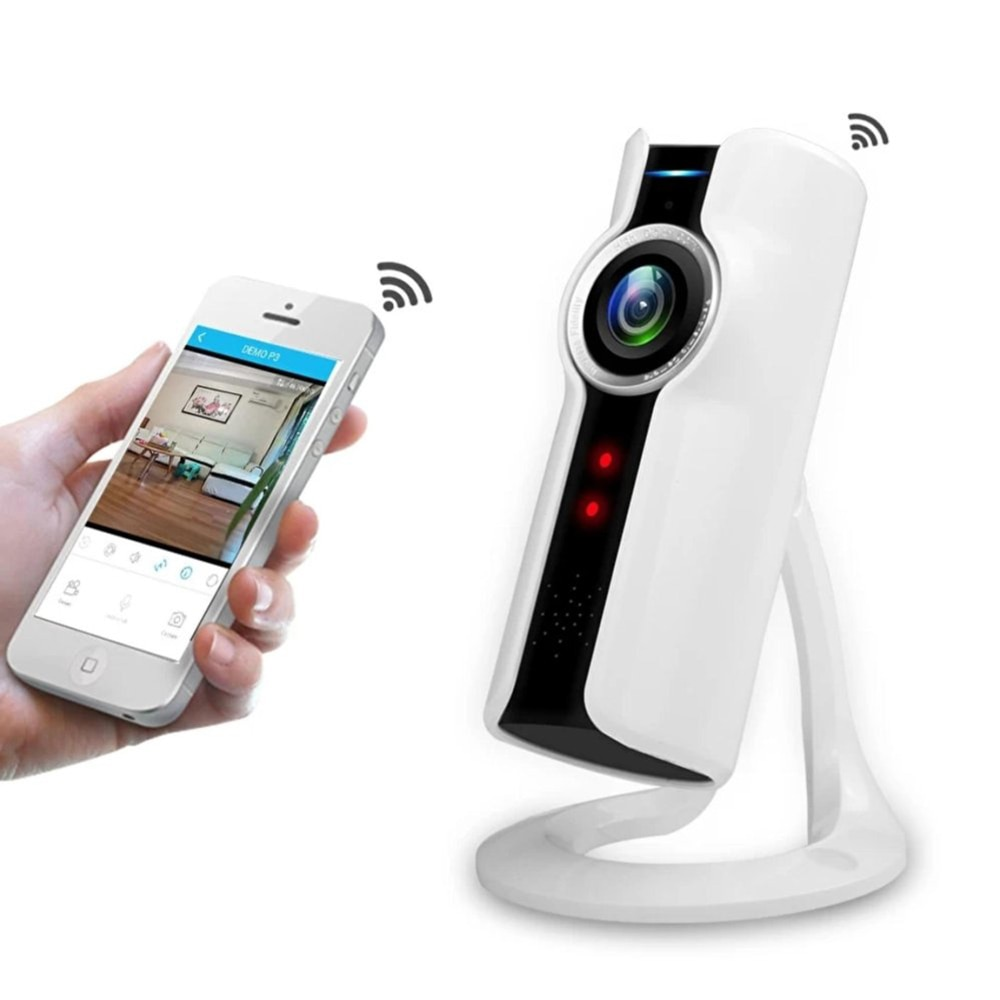 Panoramic Fisheye Lens IP Camera WIFI Wireless Mini Surveillance Camera 180 Degree IP Webcam Wi-Fi 720p IP Cam