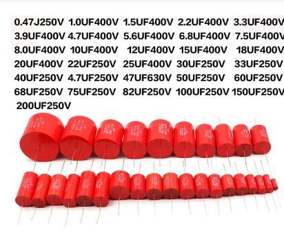 Audiophiler צירי MKP 1 UF-50 UF 35 30 25 22 20 18 15 12 10 4.8 5.6 47.7 3.3 2.2 1 400 V מתכת סרט צימוד מחיצת קבלים Ampl