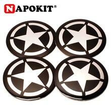 Signe de pentagramme métallique   Signe de voiture, capuchons de moyeu central de roue, emblème de jante, pour BMW AUDI JEEP FORD KIA JEEP OPEL, 4 pièces 56mm