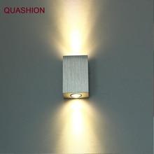 الحديثة 2 واط أدى الجدار مصباح مربع بقعة ضوء aluminm AC110v-260v يصل أسفل المنزل الديكور ضوء لغرفة النوم/الطعام غرفة/مرحاض
