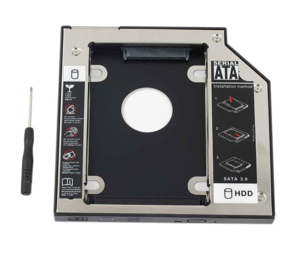 WZSM nuevo 12,7mm SATA 2nd SSD HDD Caddy para Hp Compaq 6510b 6515b Dv1000 Disco Duro Caddy