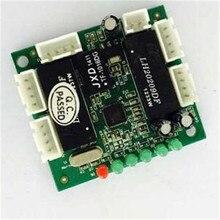 Mini projeto Porta 5 10/100 M 4Pin cabeçalho conector de Auto-Negociação rede hub switch ethernet PCBA Módulo