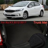 Nylon Fabric Washable Car Trunk Cargo Liner Carpet Mats For Kia K3 2012-2017