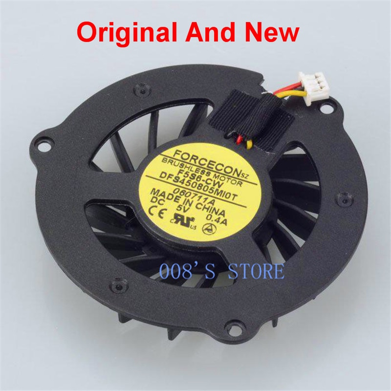 New CPU Cooler Fan For HP DV2000 DV2500 DV2600 DV2700 DV2800 V3000 V3500 V3600 V3700 Laptop DFS450805MI0T F5S6-CW 5V 0.4A