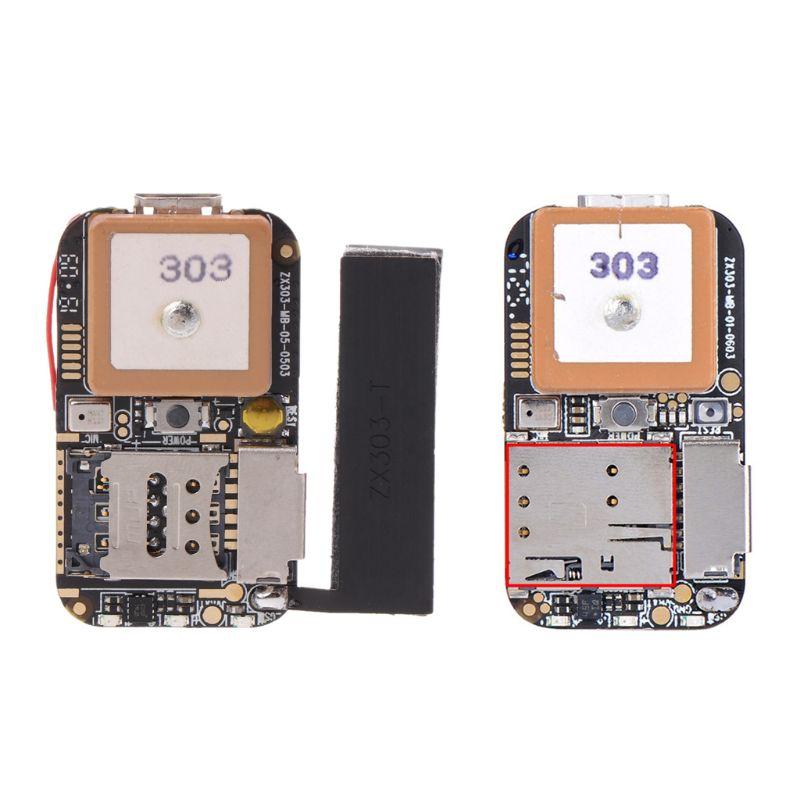 Super Mini Größe GPS Tracker GSM AGPS Wifi LBS Locator Kostenloser Web APP Tracking Stimme Recorder ZX303 PCBA Innen #620