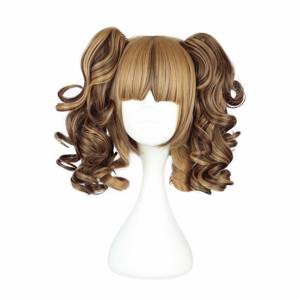 MCOSER 35cm, pelucas sintéticas de Cosplay de dos colas de caballo 100% WIG-420A de fibra de alta temperatura