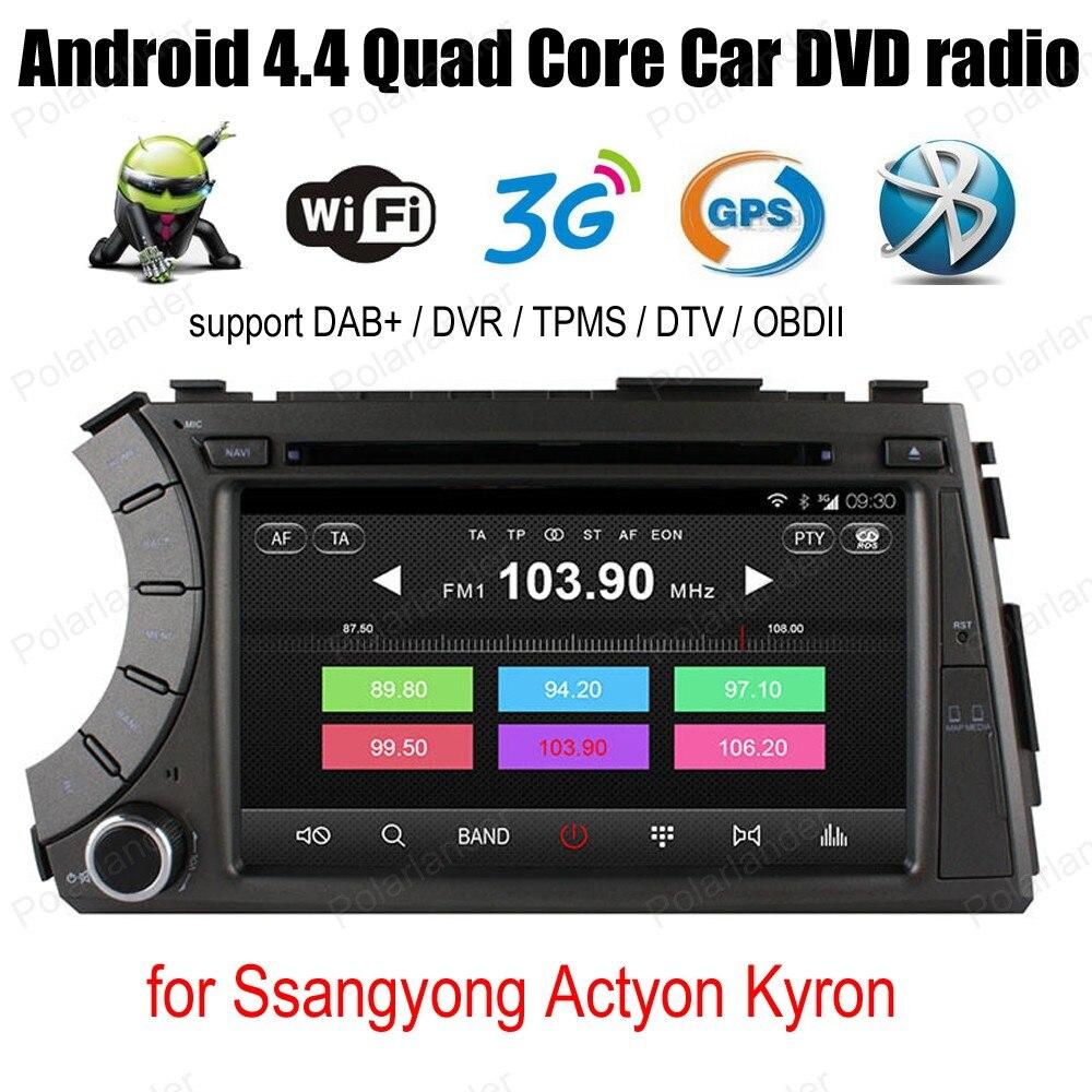 Ss/angyong/ctyon K/yron 7 pulgadas Android4.4 DVD del coche 3G WiFi radio BT soporte OBD DVR DAB + ipod TPMS GPS Navi reproductor ESTÉREO